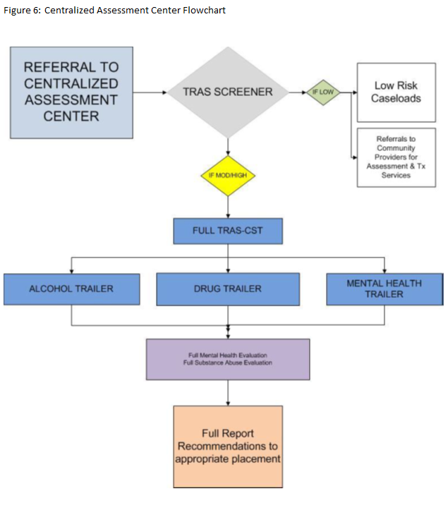 This figure provides an overview of the assessment process used by the HCCSCD Centralized Assessment and Ssreening Team (CAST)