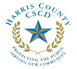 Harris County CSCD logo, click access to file a complaint